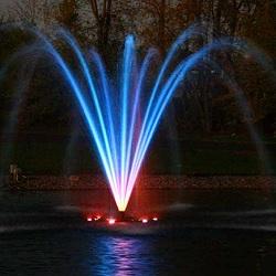 Bra Fontäner med belysning i trädgårdsdammen - Bevattningsteknik HF-06